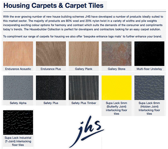 JHS Hardwearing Carpet Tiles
