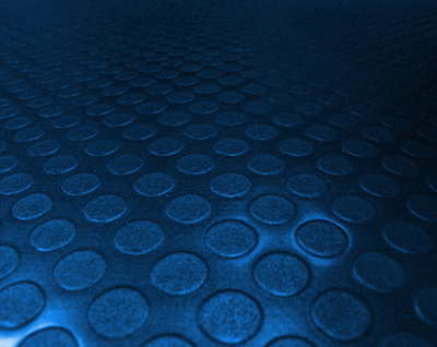 Safety flooring - blue bubbles